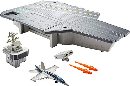 Matchbox GNN28 - Matchbox Top Gun Flugzeugträger Spielset, Spielzeug ab 3 Jahren