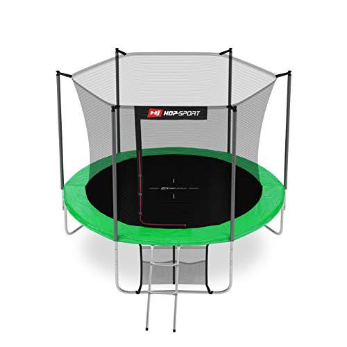 Hop-Sport Gartentrampolin Outdoor Trampolin 244, 305, 366, 430, 490 cm Komplettset inkl. Innennetz Leiter...