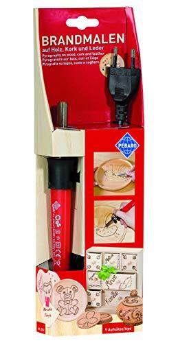 Pebaro 0260GB mit 9 Spitzen und Stempeln, für die Brandmalerei und zum Schreiben, Zeichnen und Brennen...