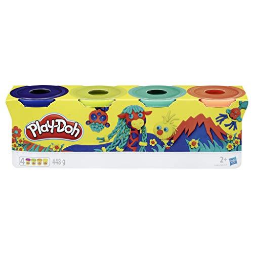 Play-Doh 4er Pack WILD, Knete für fantasievolles und kreatives Spielen