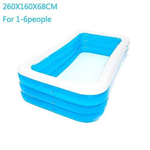 Dream-cool Aufblasbarer Pool, 4-Ring Großer Family Pool, Schwimmbecken Rechteckig Für Kinder Ab 3...
