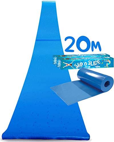 Offizielle XXXXXL Riesige Maxi Wasserrutschmatte | 20 Meter Wasserrutsche | Bauch Rutscher Premium...