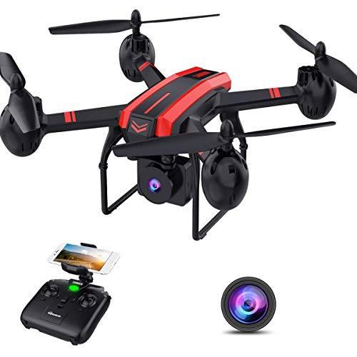 SANROCK Drohne mit Kamera für Kinder, X105W FPV Drohne mit HD Kamera, WiFi-Echtzeit-Video-Feed. Lange...