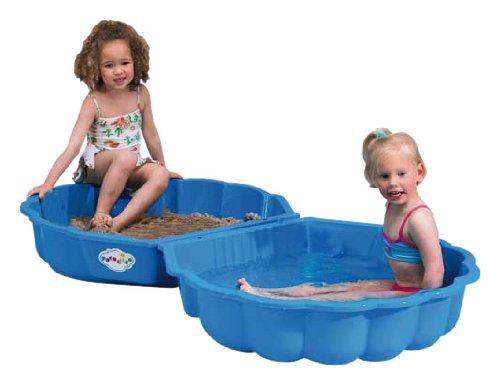 Paradiso Toys T00752 - Sand- oder Wassermuschel 2 teilig 86 x 80 x 20 cm blau