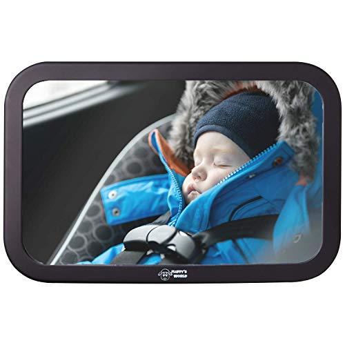 Fluffy's World Spiegel Auto Baby - Autospiegel Baby - Bruchsicherer Rückspiegel Baby - Babyspiegel Auto...