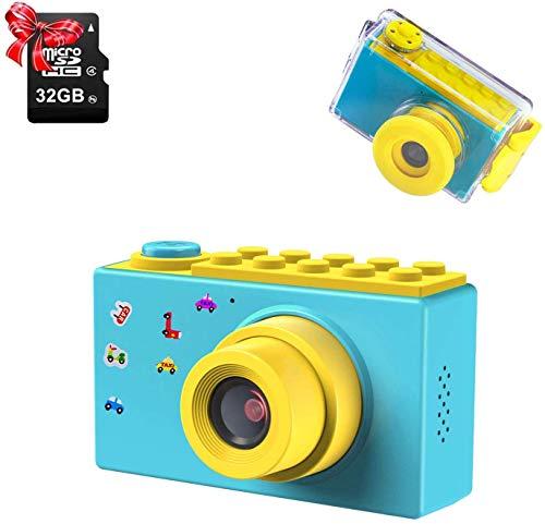 ShinePick Kamera Kinder, Digitalkamera Kinder, Wasserdicht / 8MP / HD 1080P / 2 Inch Bildschirm / Foto &...