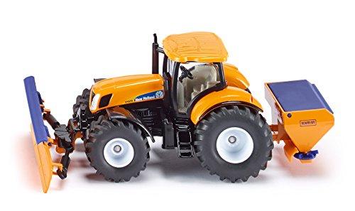 siku 2940, Traktor mit Räumschild und Streuer, Winterdienst, 1:50, Metall/Kunststoff, Orange/Blau,...