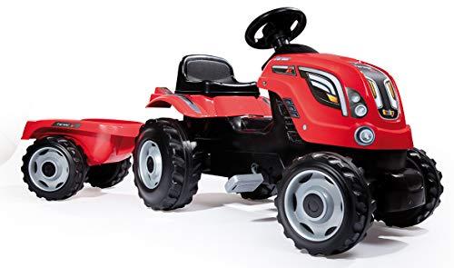 Smoby 7600710108 - Traktor Farmer mit Anhänger, Outdoor, Sport, XL, rot
