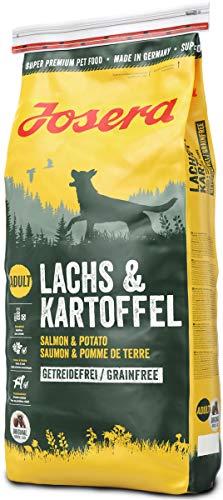 JOSERA Lachs & Kartoffel (1 x 15 kg) | getreidefreies Hundefutter | Lachs als einzige tierische...