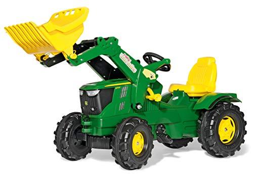 Rolly Toys rollyFarmtrac Trettraktor John Deere 6210R (inkl. rollyTrac Lader, Front- und Heckkupplung,...
