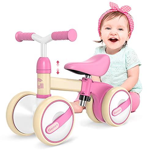 Gonex Kinder Laufrad 1 Jahr, Lauffahrrad Höhenverstellbar, Baby Laufrad 4 Räder Rutschrad Jungen...