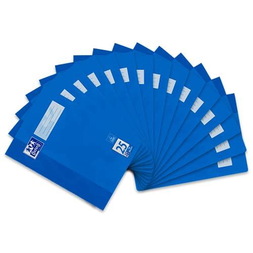 Oxford Schulheft A4 liniert, Lineatur 25, 16 Blatt, blau, 15 Stück