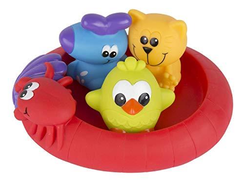 Playgro Badespielzeug Schwimmende Freunde, Fully sealed, Wasserdicht-schmutzfrei, 4-teilig, Baby...