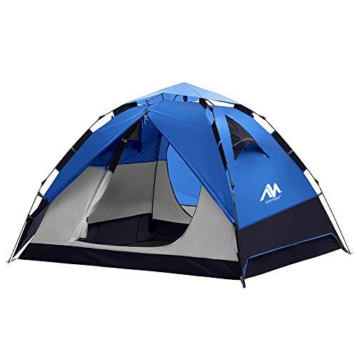 Zelt 3-4 Personen Wasserdicht, Sekundenzelt Campingzelt Kuppelzelt Wurfzelt mit Quick-Up-System, 2...
