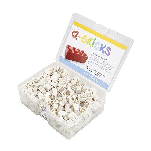 Q-Bricks Box 300Stck. Unicolor Bausteine in 5 Standardformaten: 2X4, 1X4, 2X2, 1X2 e 1X1 Noppen,...