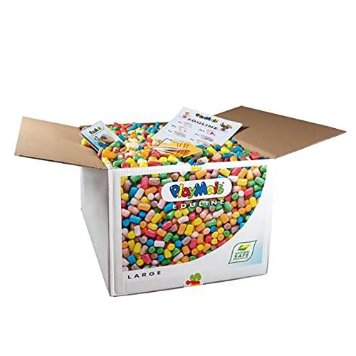 PlayMais EDULINE Large Bastel-Set für Kinder ab 3 Jahren | Motorik-Spielzeug mit 6.300 PlayMais & 50...