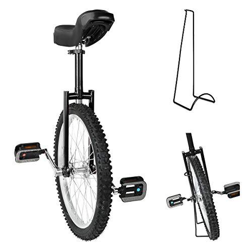 Triclicks Einrad 20 Zoll höhenverstellbar Sattelstütze Balance Radfahren Heimtrainer Fahrrad mit...