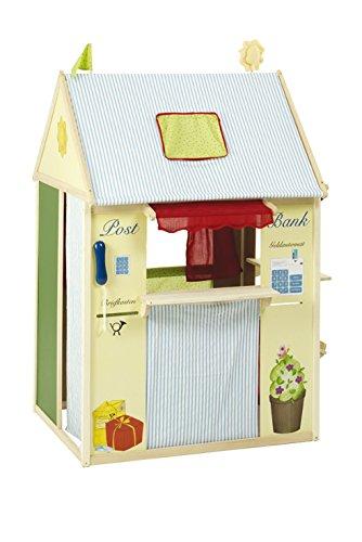 roba Spielhaus-Kombination, Rollenspiel Haus für Kinder, verwendbar als Kaufladen, Kasperletheater,...