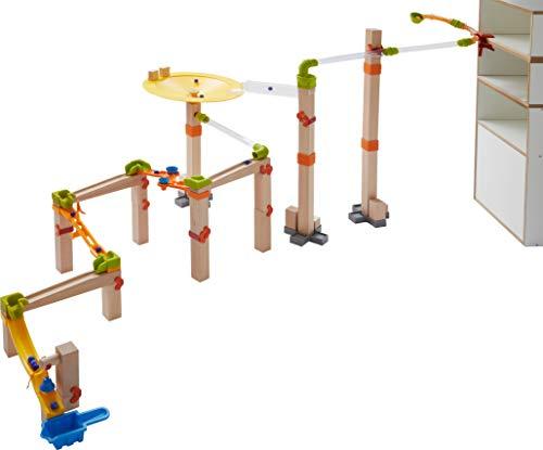 HABA 303968 - Kugelbahn – Master Construction Kit | Großes Kugelbahn-Set mit vielen Effekten |...