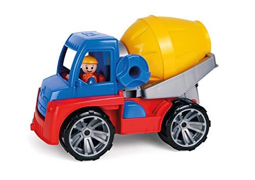 Lena 04413 04413-Truxx Betonmischer, Spielfahrzeug ca. 29 cm, Mischerfahrzeug mit Spielfigur, Baufahrzeug...