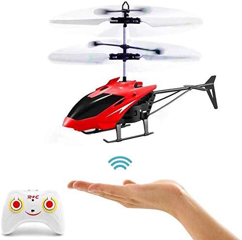 RC-Hubschrauber, Ferngesteuerter Hubschrauber mit Gyro- und LED-Licht, Mini-Fernhubschrauber für Kinder,...