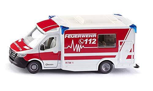 Siku 2115, Mercedes-Benz Sprinter Miesen Typ C Rettungswagen, 1:50, Metall/Kunststoff, Rot/Weiß,...