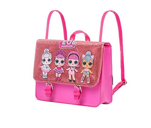 Cerdá L O L Surprise! Tasche, Rosa Funkeln Umhängetasche für Mädchen, Kinder Rucksack, 2 auf 1...