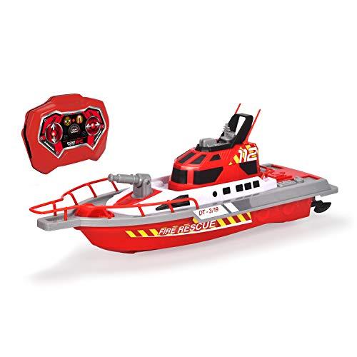 Dickie Toys – Feuerwehrboot – ferngesteuertes Boot für Kinder ab 6 Jahren, mit Wasserspritzfunktion...