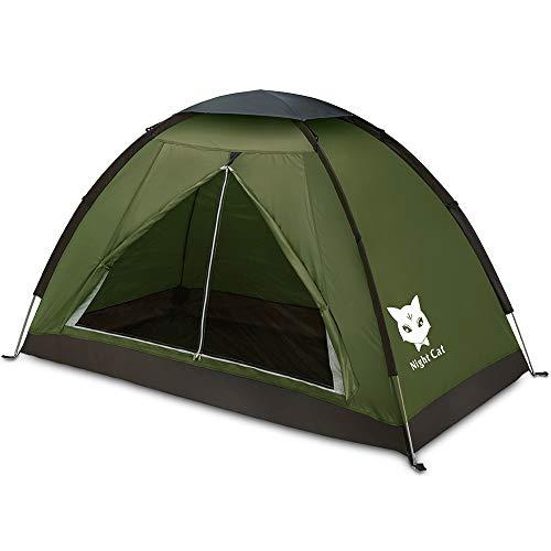 Night Cat Backpacking-Zelt für eine Person, wasserdicht, Einzelzelt, leicht, einfache manuelle...