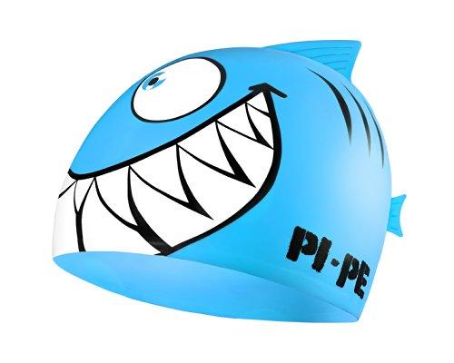PI-PE Kinder Badekappe Sharky Blau One Size