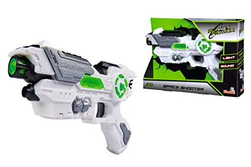Simba 108042205 - Planet Fighter Space Shooter Laserpistole, 23 cm