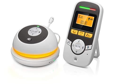 Motorola Baby MBP169 - Tragbare Babyphone Audio mit Display 1.5 Zoll und Babypflege-Timer – Weiß