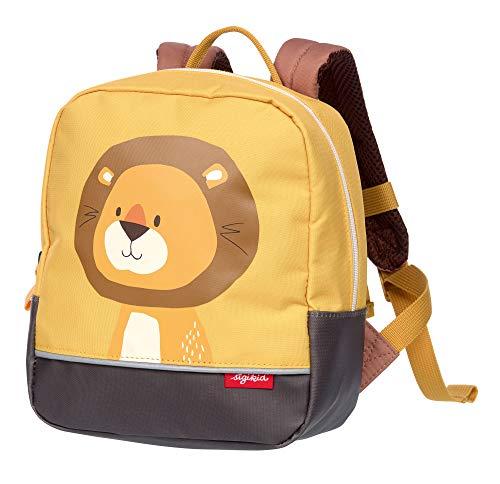 SIGIKID Mädchen und Jungen, Kinder-Rucksack mit Tiermotiv Löwe Forest, empfohlen für 2-5 Jährige,...