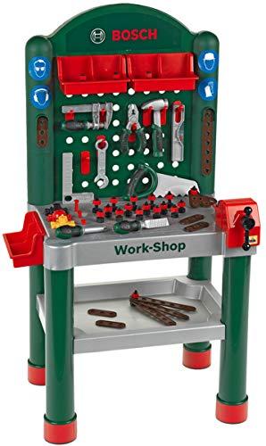 Theo Klein 8320 Bosch Workshop I 79-teilig|Arbeitsplatte mit Lernfunktion I Maße: 50 cm 37 cm 102 cm I...