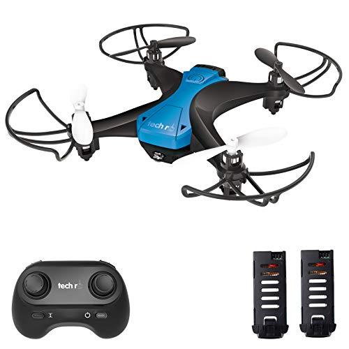 tech rc Drohne für Kinder Anfänger Mini Drohnen ohne Kamera Dual Akku 16 Minuten Flugzeit Indoor RC...