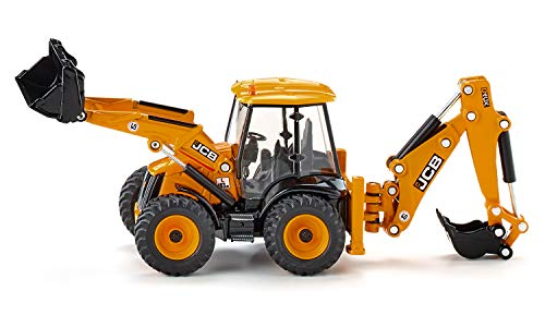 siku 3558, JCB 4CX Baggerlader, 1:50, Metall/Kunststoff, Gelb, Viele Funktionen, Kombinierbar mit siku...