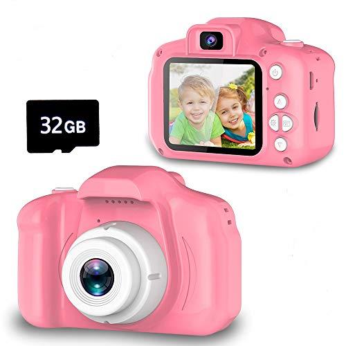 YORKOO Spielzeuge für 3-6 Jahre Aktualisieren Sie die Selfie-Kamera für Kinder HD 1080P Fotoapparat...