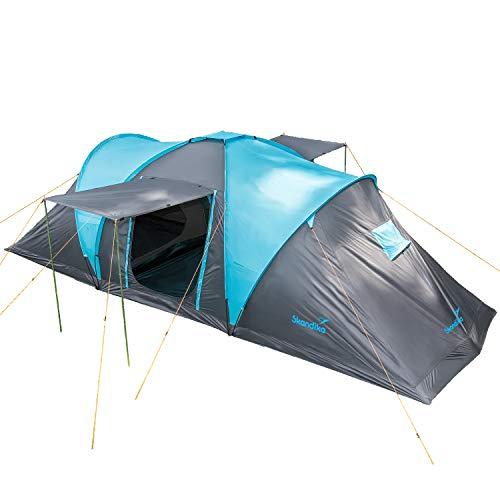 Skandika Kuppelzelt Hammerfest für 6 Personen | Campingzelt mit eingenähtem Zeltboden, 2 m Stehhöhe, 2...