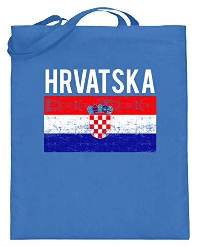 Kroatien - Fahne, Flagge, Kroatisch, Kroate, Kroatin, Zagreb, Hrvatska, Republik Kroatien - Jutebeutel...