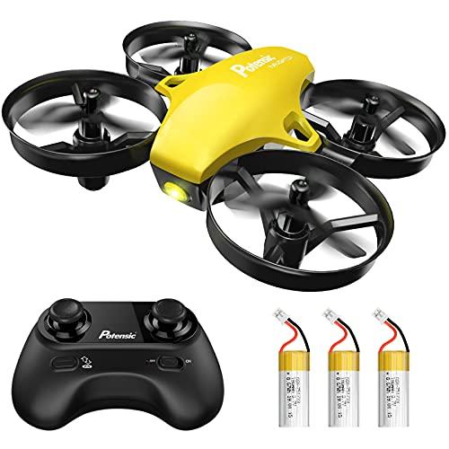 Potensic Mini Drohne für Kinder und Anfänger mit 3 Akkus, RC Quadrocopter, Minidrohne Ferngesteuert mit...