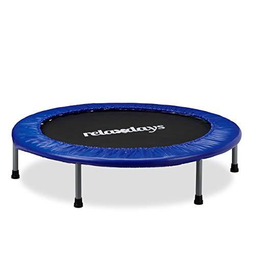 Relaxdays Trampolin Kinder faltbar, max. Personengewicht: 45 kg, Größe 102 cm, Indoor-Trampolin...