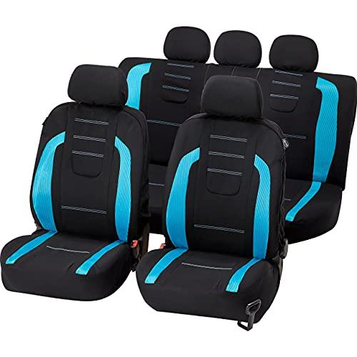 UNITEC Sitzbezugset Fashion Iceblue 14-teilig, Autositzbezüge KFZ Sitzbezüge Auto Autositze Tuning Auto...