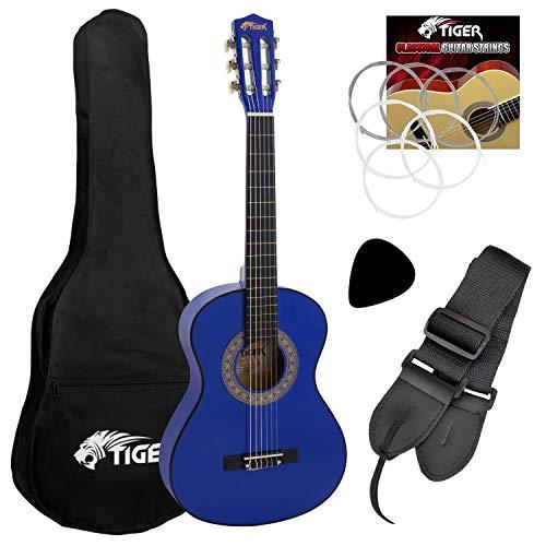 Tiger CLG4-BL Klassische Gitarre 3/4, Blau