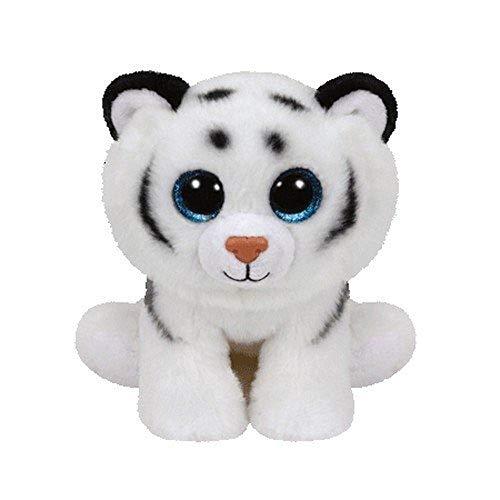 TY T42106 Tundra Tiger Plüschtier, Weiß