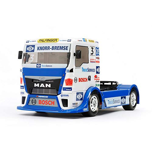 TAMIYA 58632 - 1:14 RC Team Hahn Racing MAN TGS TT-01E, ferngesteuertes Auto/ Fahrzeug, Modellbau,...