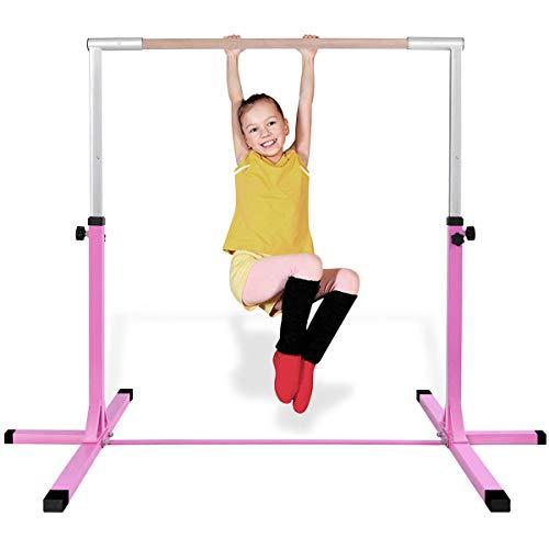 COSTWAY Gymnastik Turnreck, Turnreck höhenverstellbar, Turnstangen bis 100kg belastbar, Reckstange,...