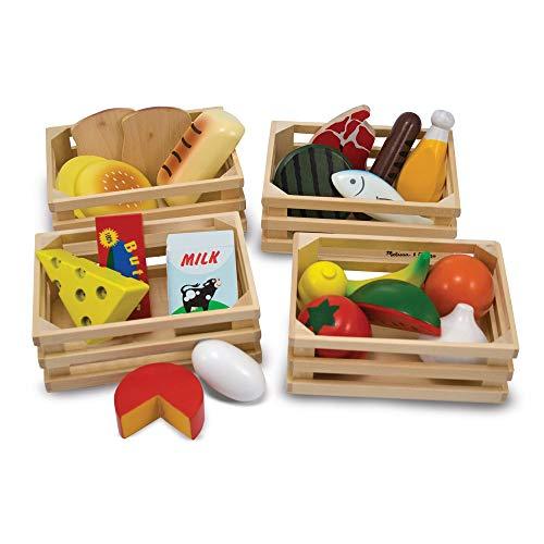 Melissa&Doug Lebensmittelgruppen | Fantasiespiel | Essensspiel | 3+ | Geschenk für Jungen oder...