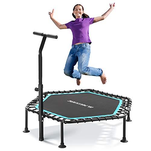 MaxKare Mini Trampolin für Kinder Fitness Rebounder Trampolin Sechseck für Erwachsene Übung mit...