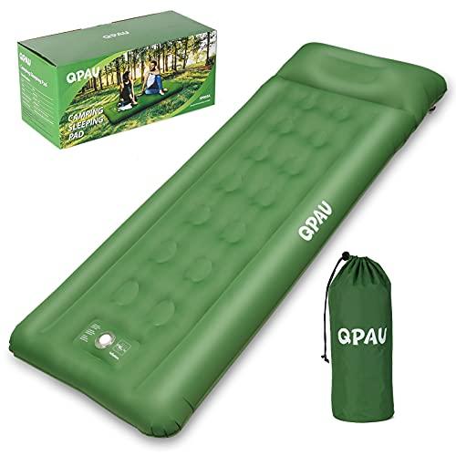 QPAU Isomatte Camping, Aufblasbare Luftmatratze mit Fußpresse Pumpe für Backpacking und Wandern,...