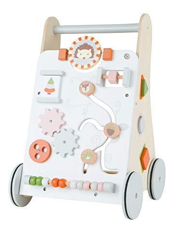 Bieco Lauflernwagen Holz   ab 1 Jahr   Multifunktionale Baby Lauflernhilfe   Laufwagen für Babys zur...